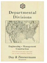 Day & Zimmermann works to return to the company's roots of industrial engineering, analytical reports, and construction