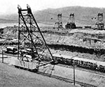 During the building of the Gatun Lock system in the Panama Canal, Dodge & Day attract considerable attention in the construction industry when they break the world record for hauling concrete