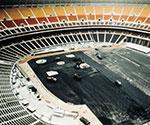 Day & Zimmermann is chosen as the construction manager for Veterans Stadium in Philadelphia.